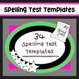 Super Cute Spelling Test Templates