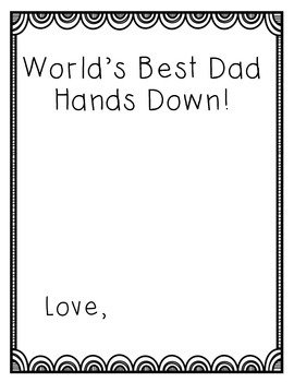 Super Dad /Grandpa Father's Day Activities