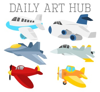 Super Deformed Planes Clip Art - Great for Art Class Projects!