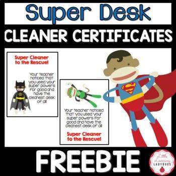 Super Desk Cleaner Certificates