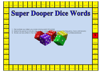 Super Dooper Dice Words - Consonants and Vowels