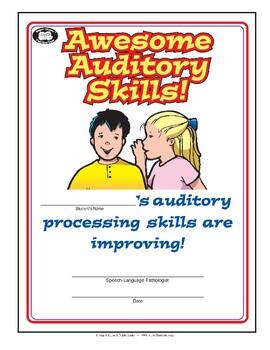 Super Duper Award - Awesome Auditory Skills