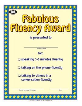 Super Duper Award - Fabulous Fluency