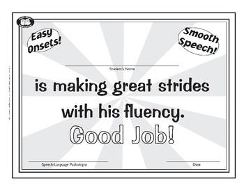 Super Duper Award - Fluency - Boy