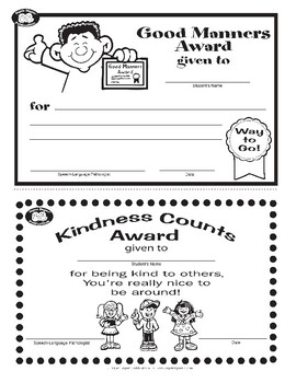 Super Duper Award - Good Manners