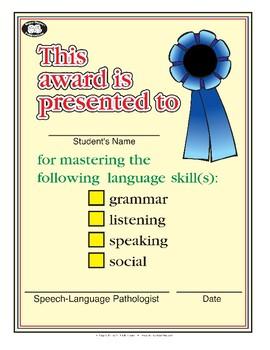 Super Duper Award - Language Skills