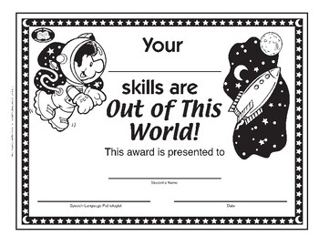 Super Duper Award - Out of this World Skills