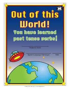 Super Duper Award - Past Tense Verbs