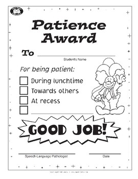 Super Duper Award - Patience Award