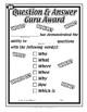 Super Duper Award - Question and Answer Guru