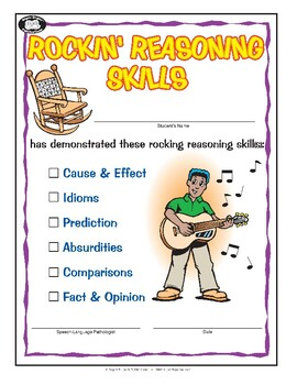 Super Duper Award - Rockin' Reasoning Skills