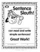 Super Duper Award - Sentence Sleuth