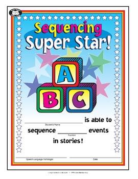 Super Duper Award - Sequencing Super Star