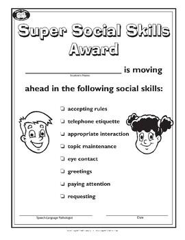 Super Duper Award - Social Skills