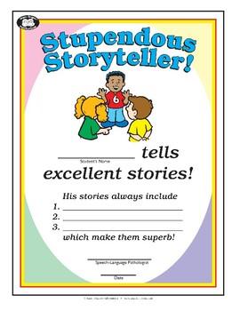 Super Duper Award - Stupendous Storyteller - Boy