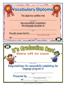 Super Duper Award - Vocabulary Diploma