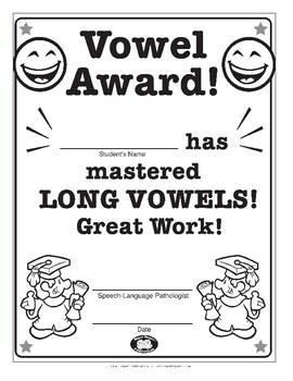 Super Duper Award - Vowels