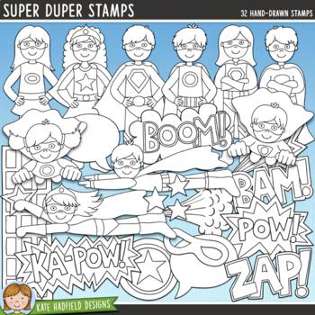 """Superhero Clip Art: """"Super Duper"""""""