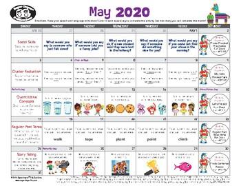 Super Duper Speech Calendar - May 2020