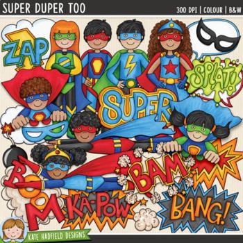 """Superhero Clip Art 2: """"Super Duper Too"""""""