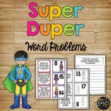 Word Problems Matching Game Kindergarten & First Grade {Sums up to 20}