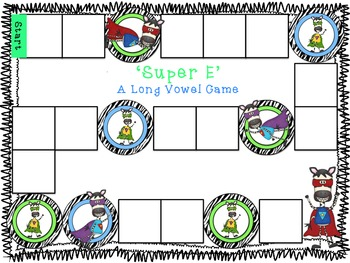 Super E! A CVCe (silent e) Phonics Game