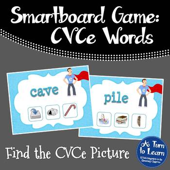 Super E / CVCe Find the Picture Game for Smartboard or Promethean Board!