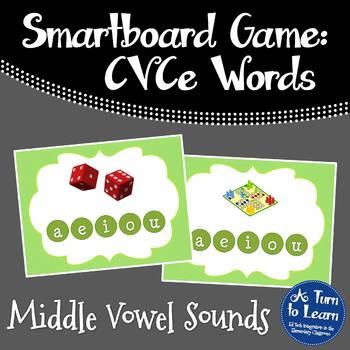 Super E / CVCe Long Vowel Sounds Game (Smartboard or Promethean Board!)