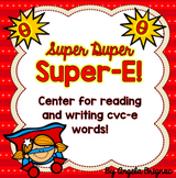 Super-E Center for Reading and Writing Long Vowel Words! (Silent-e, CVCe)