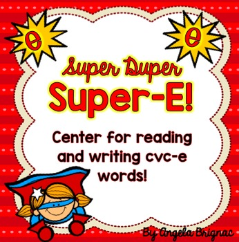 Super-E Center for Reading and Writing Long Vowel Words! (