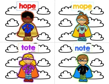 """Super """"E!"""" - Independent Practice for Silent E"""