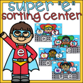 Super E Long Vowels Sort 1st Grade Literacy Center Superhero Theme