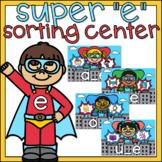 Super E Long Vowels Sort 1st Grade Literacy Center Superhe