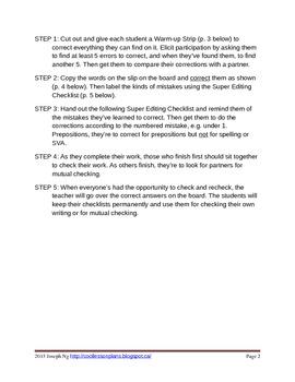 Super EDITING Checklist - Cultural Diversity (Canada)