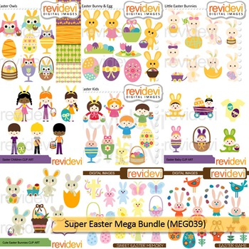 Super Easter Clip art Mega Bundle (9 packs)