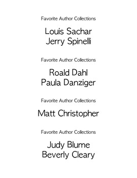 Super Easy Book Bin Labels