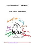 Super Editing Checklist - Banking and Investment Theme