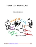 Super Editing Checklist - EDUCATION themed