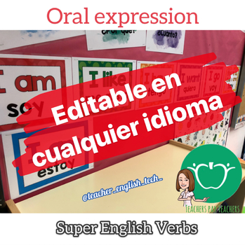 Super English Verbs - EDITABLE