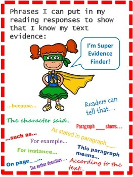 Super Evidence Finder!  Close Reading Poster and Readers Notebook Set