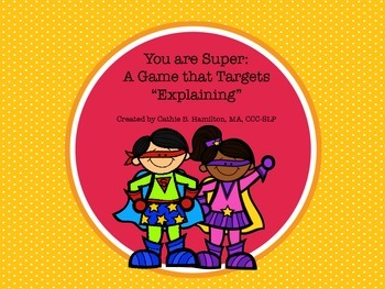"""""""Super"""" Explanations during Speech and Language Therapy"""