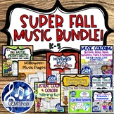 FALL MUSIC BUNDLE Easel Theory Activities Composing Colori
