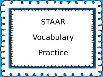 Super FUN STAAR Reading Vocabulary Review