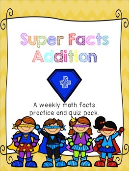 Super Facts: Addition!  Math Fact Program for fact fluency