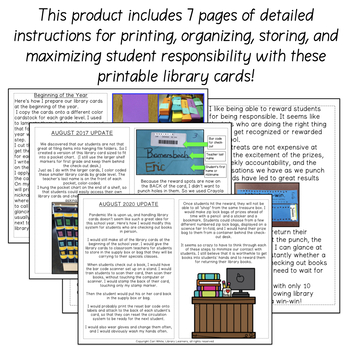 Library Cards and Shelf Markers with Super Fantastic Punch Rewards