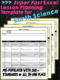Super Fast Lesson Planning Template for NGSS HS Earth Space Science