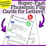 Super Fast Phonemic Activites for Letters A-Z Flip Cards