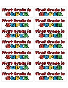 Super First Grade Label