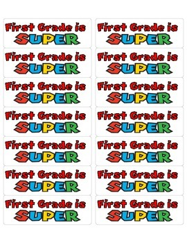 Super First Grade Label