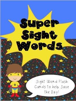 Super Hero Sight Words